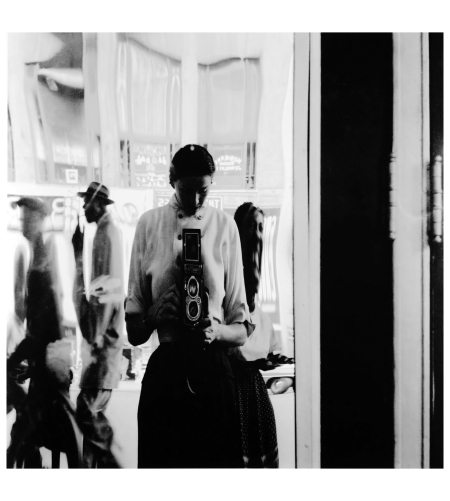 Self-portrait in a Distorting Mirror, 42nd Street, New York, 1950 Eve Arnold