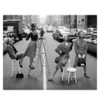 %22Stopping Traffic%22 Joanna McCormick, Janet Randy, Betsy Pickering and Gretchen Harris, Park Avenue South c.1958