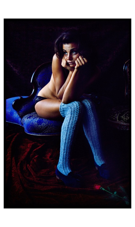 Fashion (1963), Blue stockings Photo Art Kane