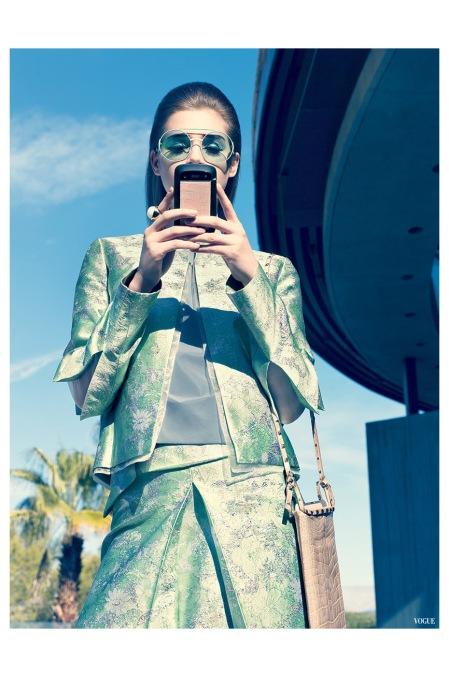 Model Anais Pouliot  Raymond Meier, Vogue, March 2012