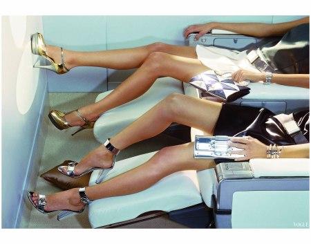 Hana Soukupova (legs only) Miles Aldridge, Vogue, March 2007