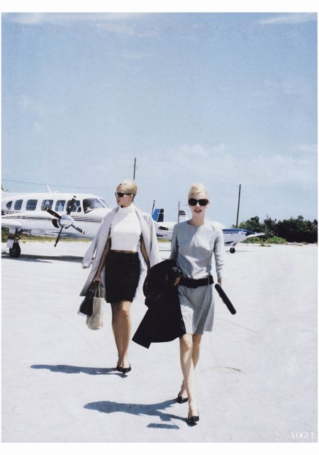 Niki Taylor and Kirsty Hume Pamela Hanson, Vogue, July 1995
