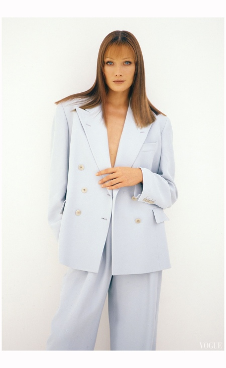 Carla Bruni - Armani Vogue Sept 1993 Photo Neil Kirk
