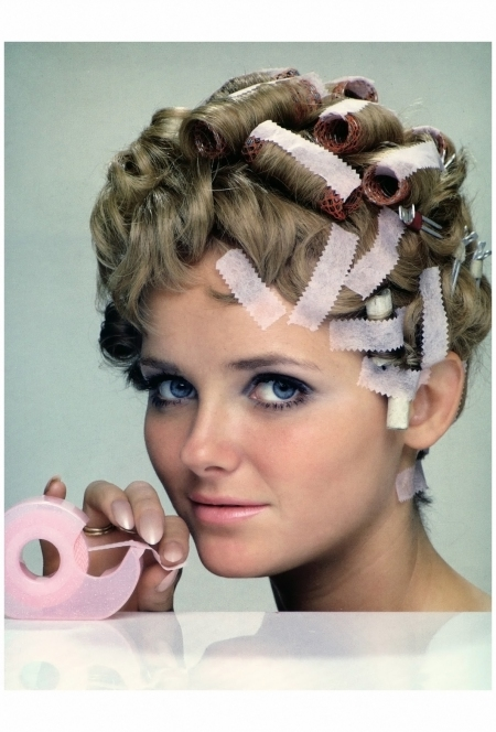 Cheryl Tiegs, 'Scotch' Hair Set Tape, 3M, photo by William Helburn, 1968