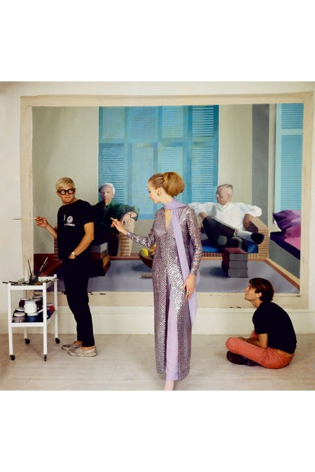 December 1968 - David Hockney, Peter Schlesinger and Maudie James Photo Cecil Beaton