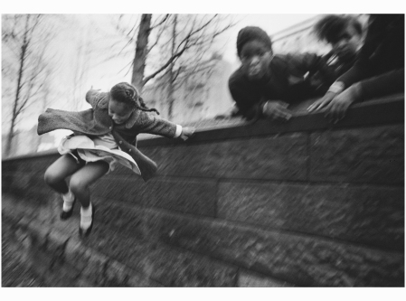 Girl Jumping Over A Wall Central Park, New York City, 1967 Photo Mary Ellen Mark
