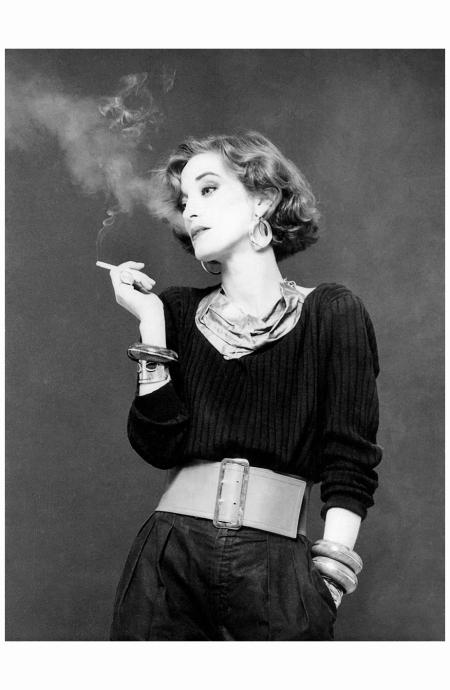 Loulou de la Falaise, photographed by JP Masclet, 1980.