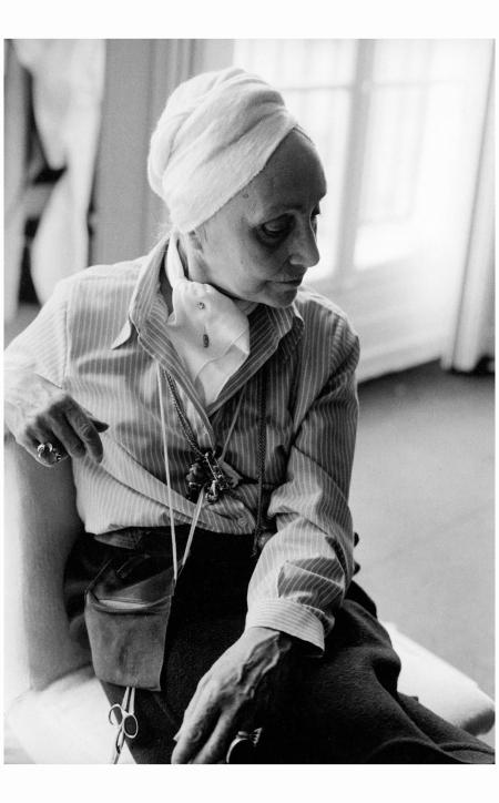 Madame Grès (1903–1993) born Germaine Emilie Krebs Madame Grès, photographed by Eve Arnold, Paris, 1977