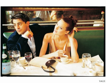 Matt LeBlanc With Shalom Harlow Photo Arthor Elgort Vogue Jan 1997