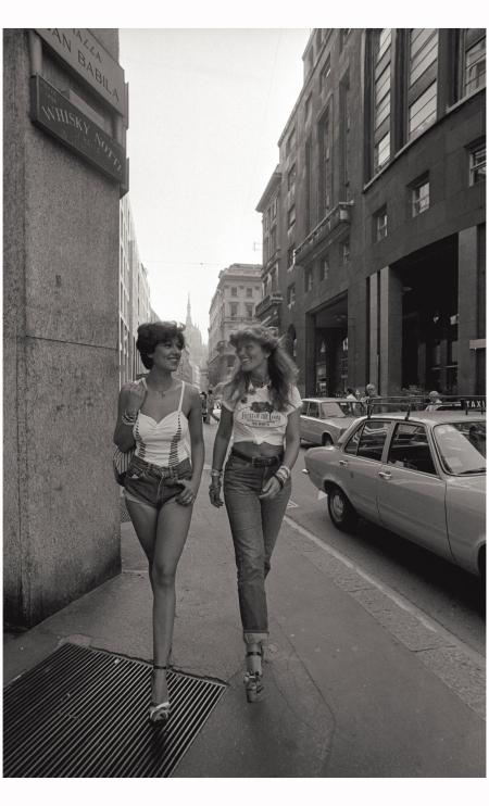 Models In Fiorucci Walking In Milan's Corso Vittorio Emanuele, 1974 Giorgio Lotti