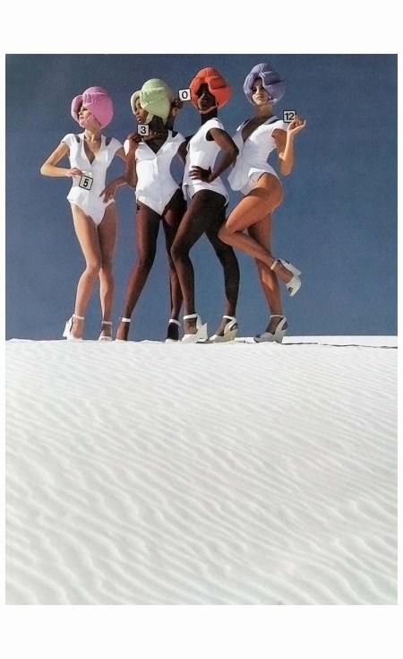 %22Mugler by Mugler%22 Elle US March 1991 Photo Gilles Bensimon 1