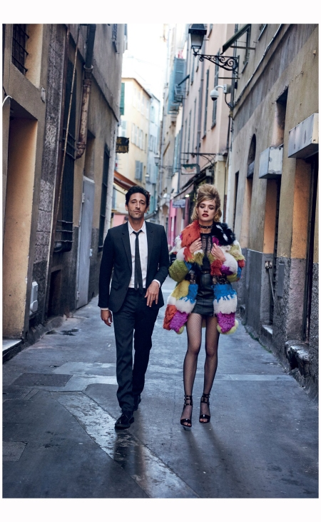 Adrien Brody and Natalia Vodianova - YSL Vogue 2015 Photo Peter Lindbergh