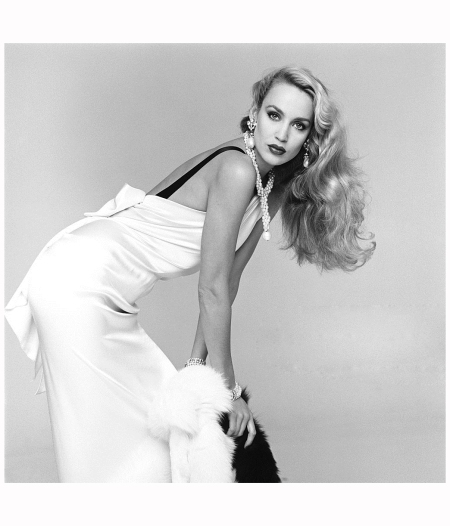 American model and actress Jerry Hall, photographed in the Studio 7th November1980. For the book 'Lichfield - The Most Beautiful Women' Photo Patrick Lichfield