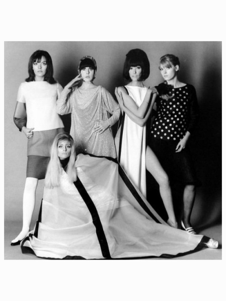 Ann Norman, Peggy Moffitt, Melanie Hampshire, Rosaleen Murray and Jill Kennington The Girls of Blow-Up Photographed by John Cowan, 1966