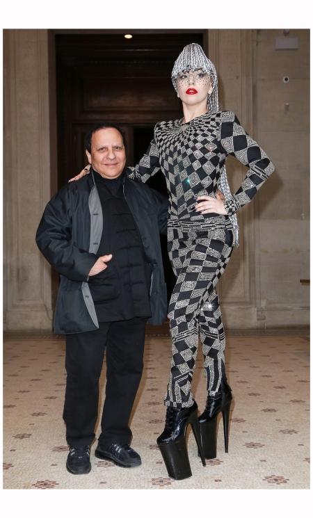 Azzedine Alaia & Lady Gaga Vogue Jan 2014 Rex