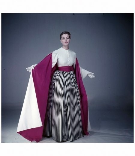Capucine. Poses In Studio For Fashion Spring 1954 Photo Walter Carone