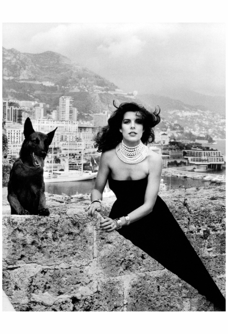 Caroline, Princess of Hanover, photographed by Helmut Newton, Prince's Palace of Monaco, 1988