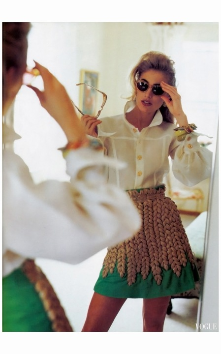 Elaine Irwin Vogue US March 1992 Photo Francois Halard