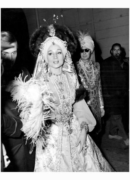 Jacqueline De Ribes at Baron Alexis de Rédé's Bal Oriental in Paris, 1969