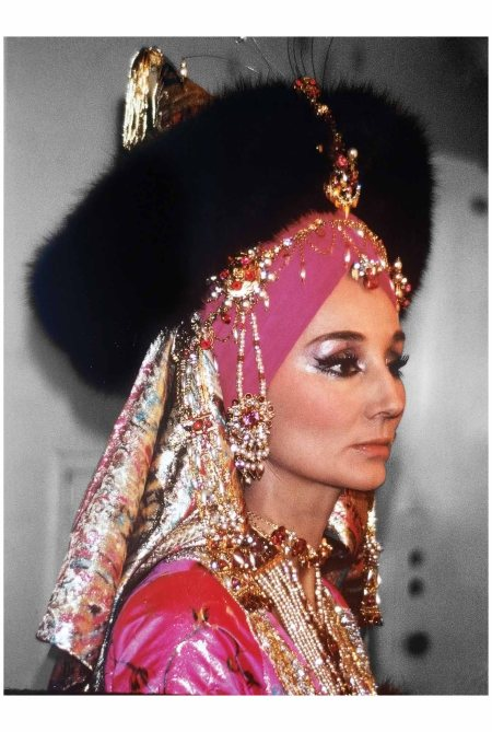 "Jacqueline de Ribes in costume for the ""Bal Oriental Paris, 1969"