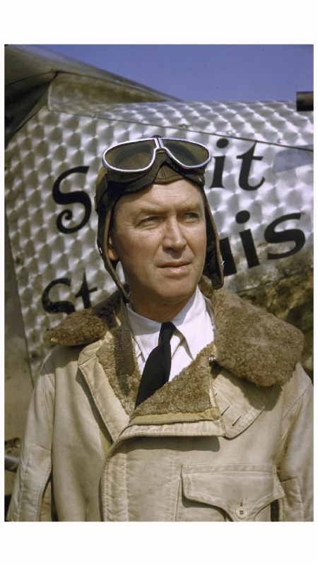 Jimmy Stewart in Lindbergh Story 1955 Photo Yale Joel
