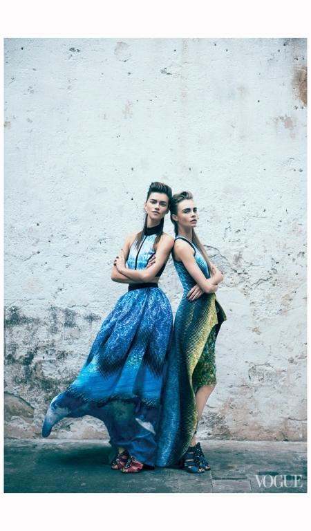 Kasia Struss and Cara Delevingne Peter Lindbergh, Vogue, March 2012