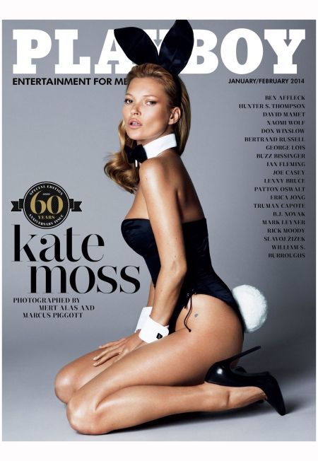 Kate Moss Mert Alas and Marcus Piggott Playboy covers 12 january-february 2014