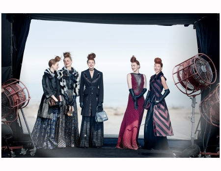 Madison Stubbington RianneVan Rompey Natale Westling Karen Elason and Maggie Rizer 2015 Vogue marc-jacobs Photo Peter Lindbergh