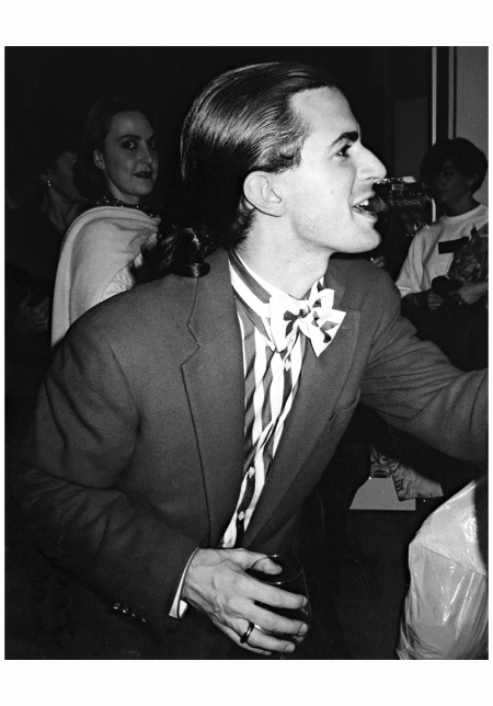 "Marc Jacobs ""That was his look back then. Actually, Marc is one of the smart ones. He was talking to someone at a party, screaming at someone, after a show in New York."" 1990 Photo Marina Schiano"