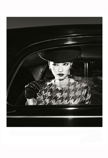 Miao Bin Si - Citroen Traction 1955 Philip Treacy  Dior Harper's Bazaar China, October 2012 Photo Yin Chao