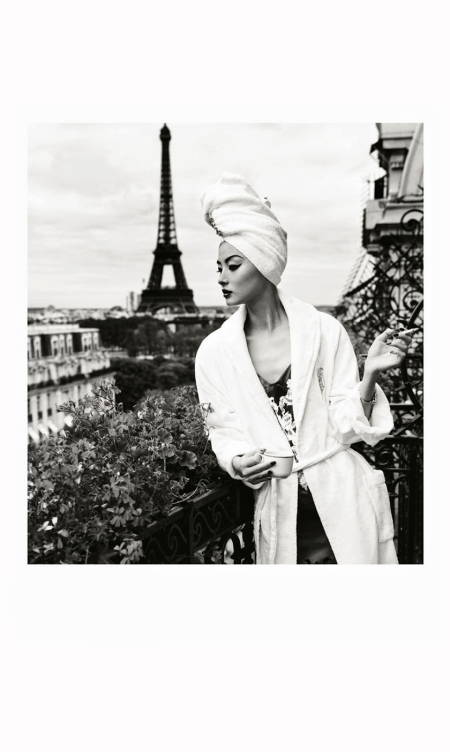 Miao Bin Si - Hotel Plaza Athenee Chanel Givenchy by Riccardo Tisci Harper's Bazaar China, October 2012 Photo Yin Chao