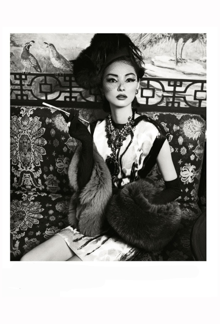 Miao Bin Si - Laudree Bonaparte  All by Lanvin - Stephen Jones - Harper's Bazaar China, October 2012 Photo Yin Chao