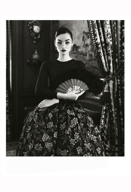 Miao Bin Si - Musee Nissim de Camondo  All Christian Dior Harper's Bazaar China, October 2012 Photo Yin Chao