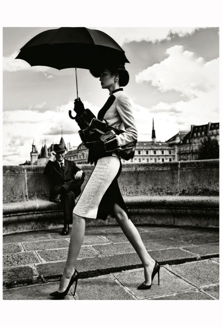 Miao Bin Si - Pont Neuf Lanvin Stephen Jones Christian Loubutin Harper's Bazaar China, October 2012 Photo Yin Chao