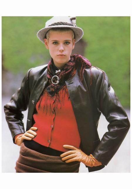 Model Jenny Howorth Photo Gilles Bensimon ELLE gen 1986