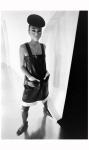 Model Sin-May Zao wearing a late day dress by Pierre Cardin 1968 Photo Bill Ray