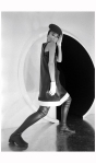 Model Sin-May Zao wearing a late day dress by Pierre Cardin 1968 Photo Bill Ray2