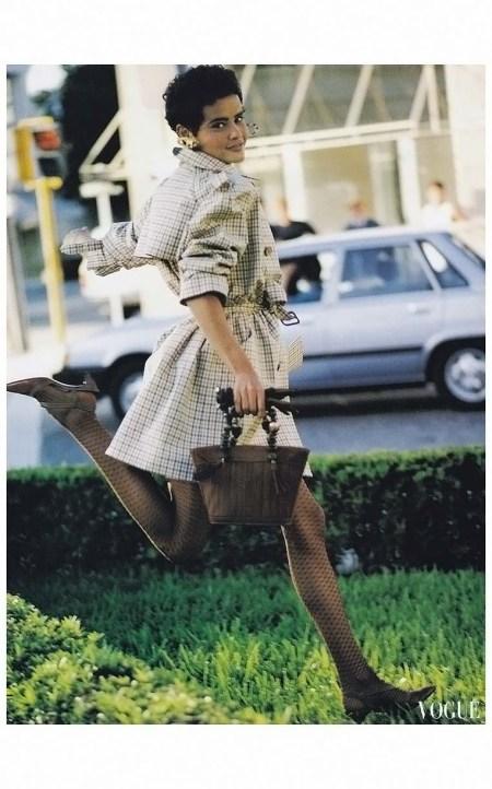 Nadege Du Bospertus Vogue - February - 1990 Photo Arthur Elgort