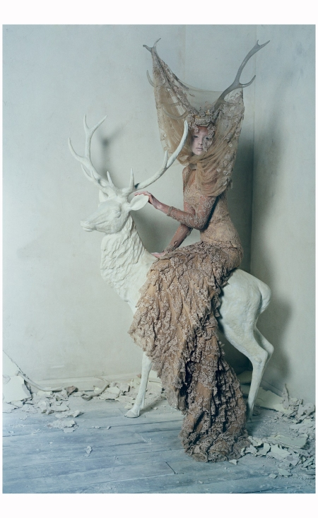 Nastya Sten in Alexander McQueen FW06 Widows of Culloden %22Dark Angel%22 2015 Photo Tim Walker