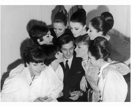 Prunelia and Dorothy McGowan Marc Bohan with Model Dior Getty