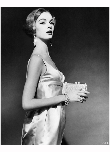 Uma Thurman's mother Nena Von Schlebrügge, 1959 April Vogue Photo Claude Virgin