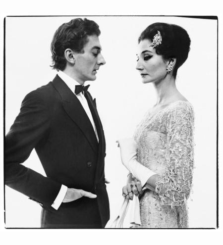 Vicomtesse Jacqueline de Ribes with Raymundo de Larrain, dress by Dior, New York, May 15, 1961 Photo Richard Avedon