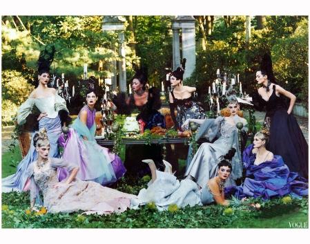 %22A feast for the eyes%22 Vogue US December, 1996 Steven Meisel