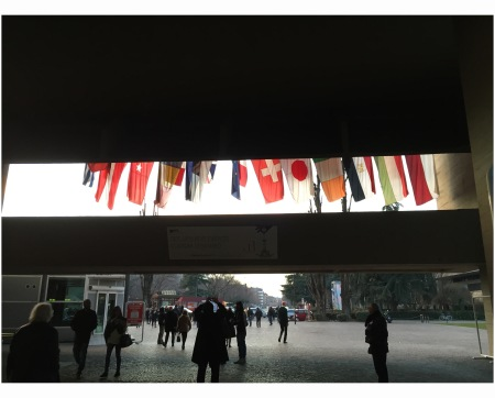 %22Arte Fiera%22 Flag in Fira district in Bologna 2015