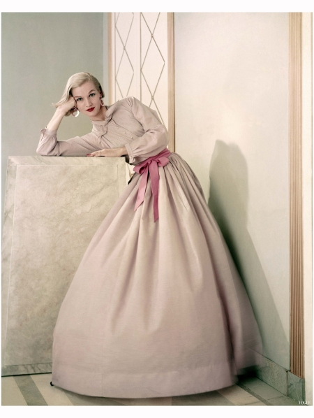 A Claire McCardell dinner ensemble Vogue, May 1, 1955 Photo Frances McLaughlin-Gill