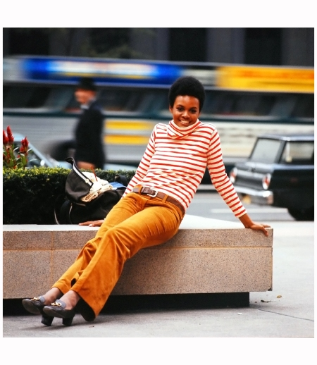 Actress and model Tamara Dobson, NY October 1969 Photo Yale Joel
