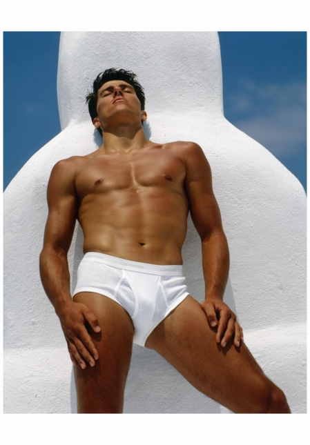 An iconic Calvin Klein ad poster from the 1980s NGC:Bruce Weber
