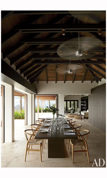 ARCHITECT Wolfgang Ludes and Johannes Zingerle Contemporary Dining Room and Wolfgang Ludes and Johannes Zingerle in St. Barts Photo William Abranowicz