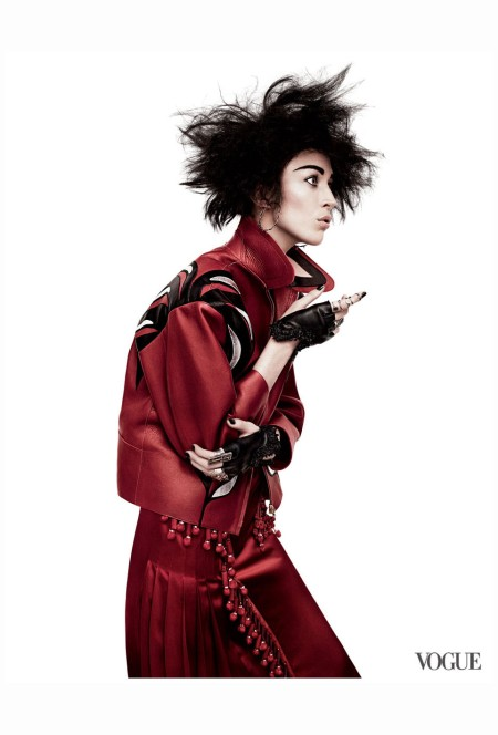 Arzona Muse Vogue, March 2011 punk'd  Photo David Sims a