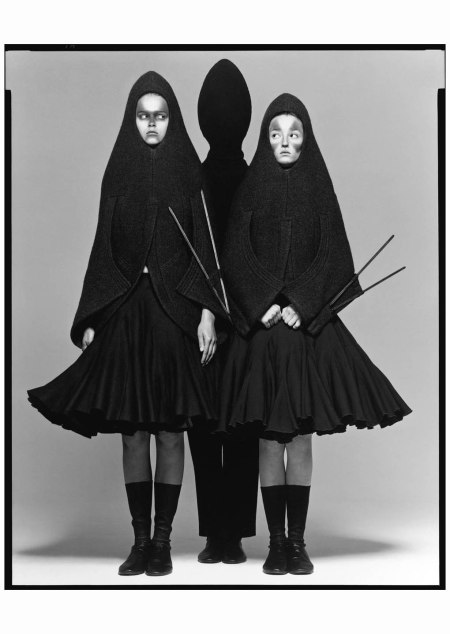 Carmen Kass and Audrey Marnay, dresses by Hussein Chalayan, New York, May 12, 1998 b